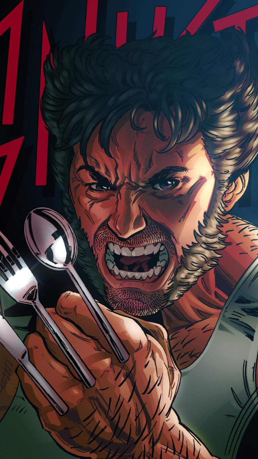 Wolverine Spoon Claws iPhone Wallpaper
