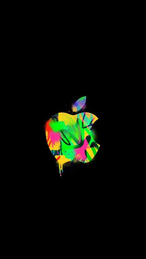 Apple Graffiti iPhone Wallpaper