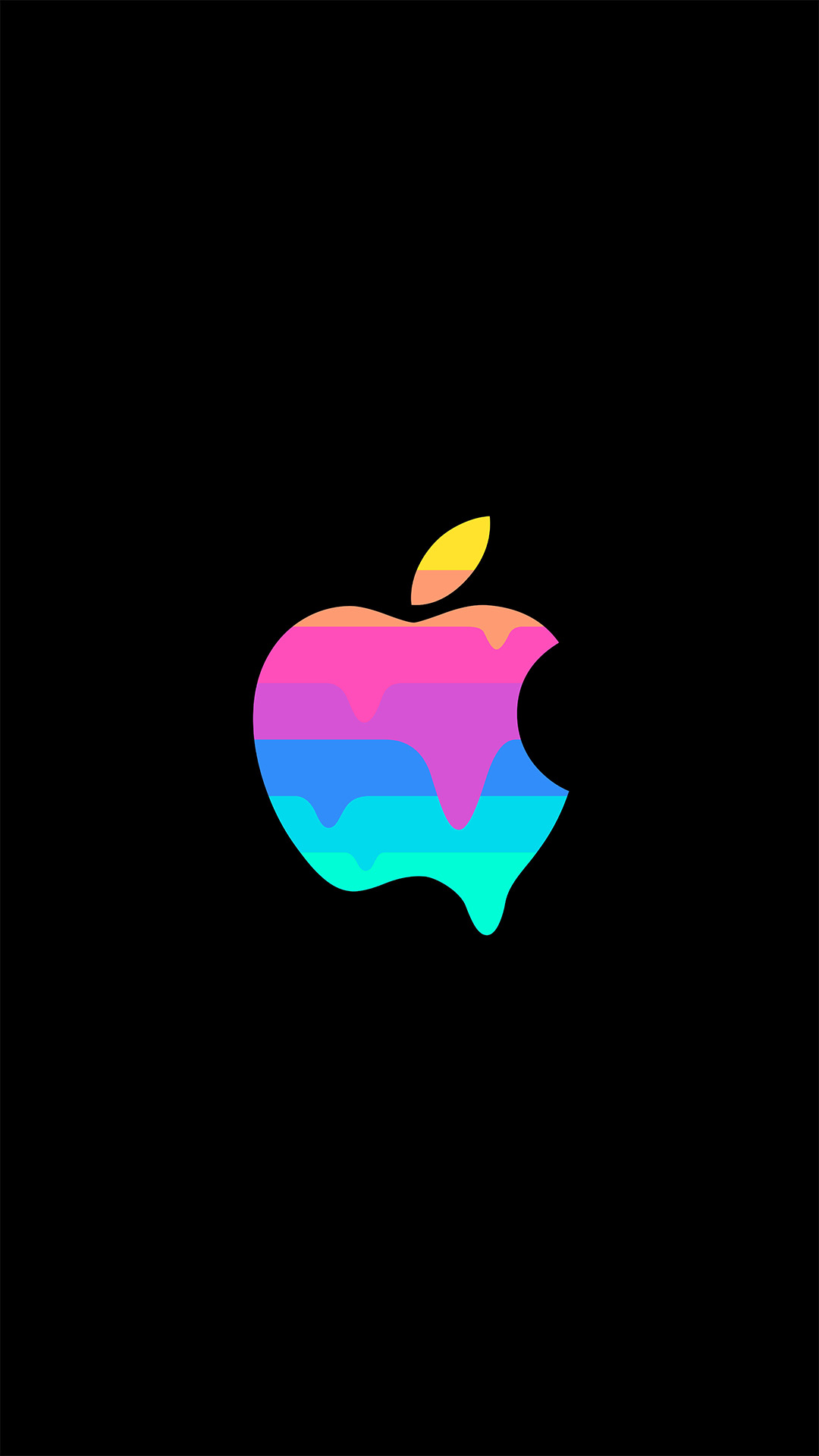 Apple Melt iPhone Wallpaper