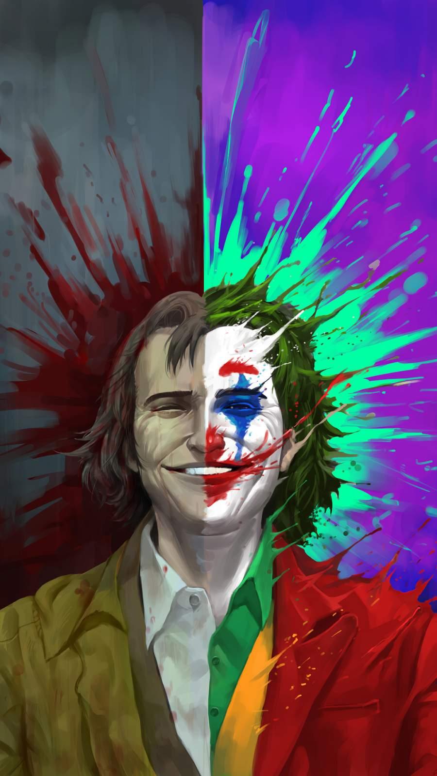 Arthur Fleck vs Joker iPhone Wallpaper