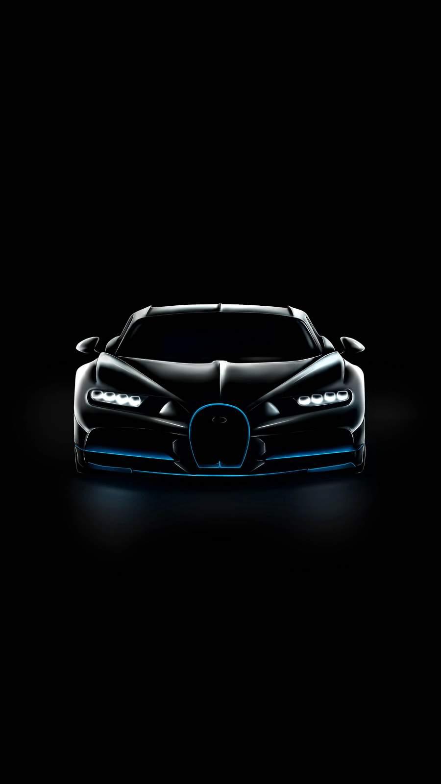 Bugatti Chiron Black iPhone Wallpaper