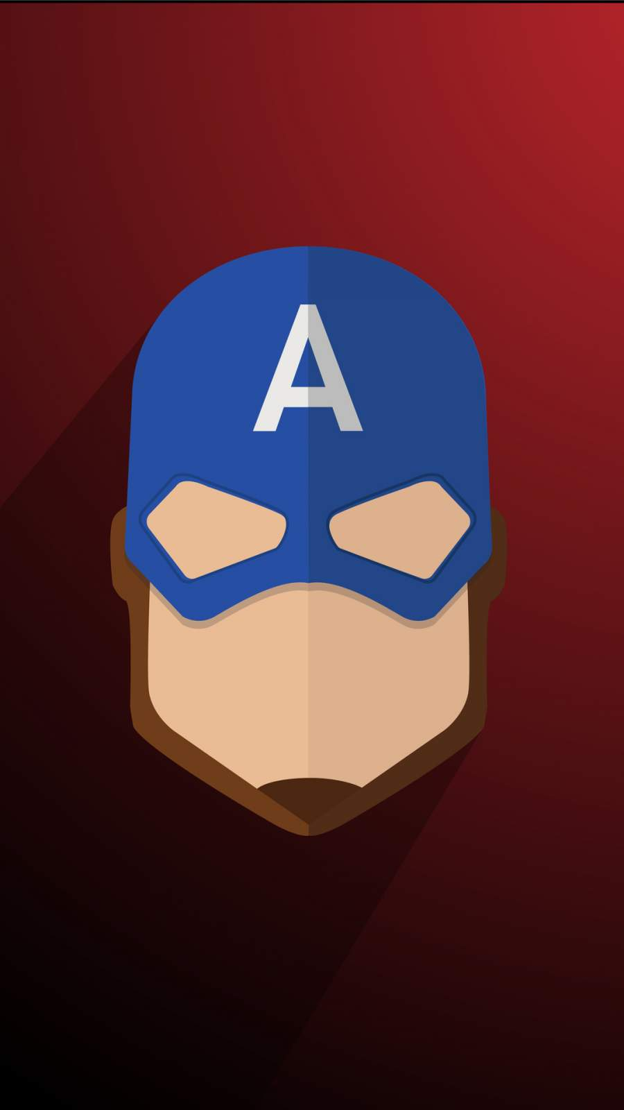 Captain America Minimalist iPhone Wallpaper