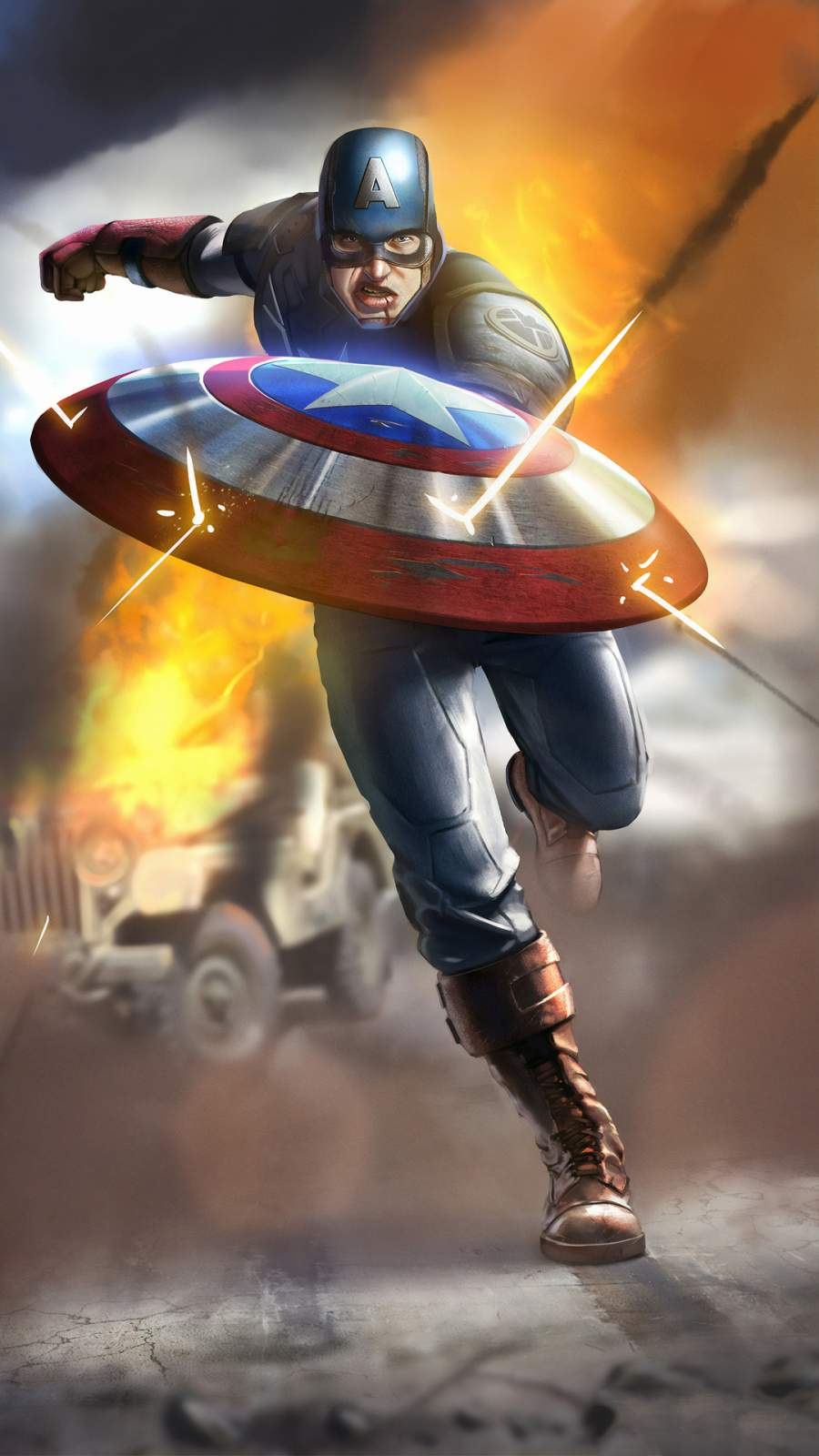 Captain America is Coming iPhone Wallpaper