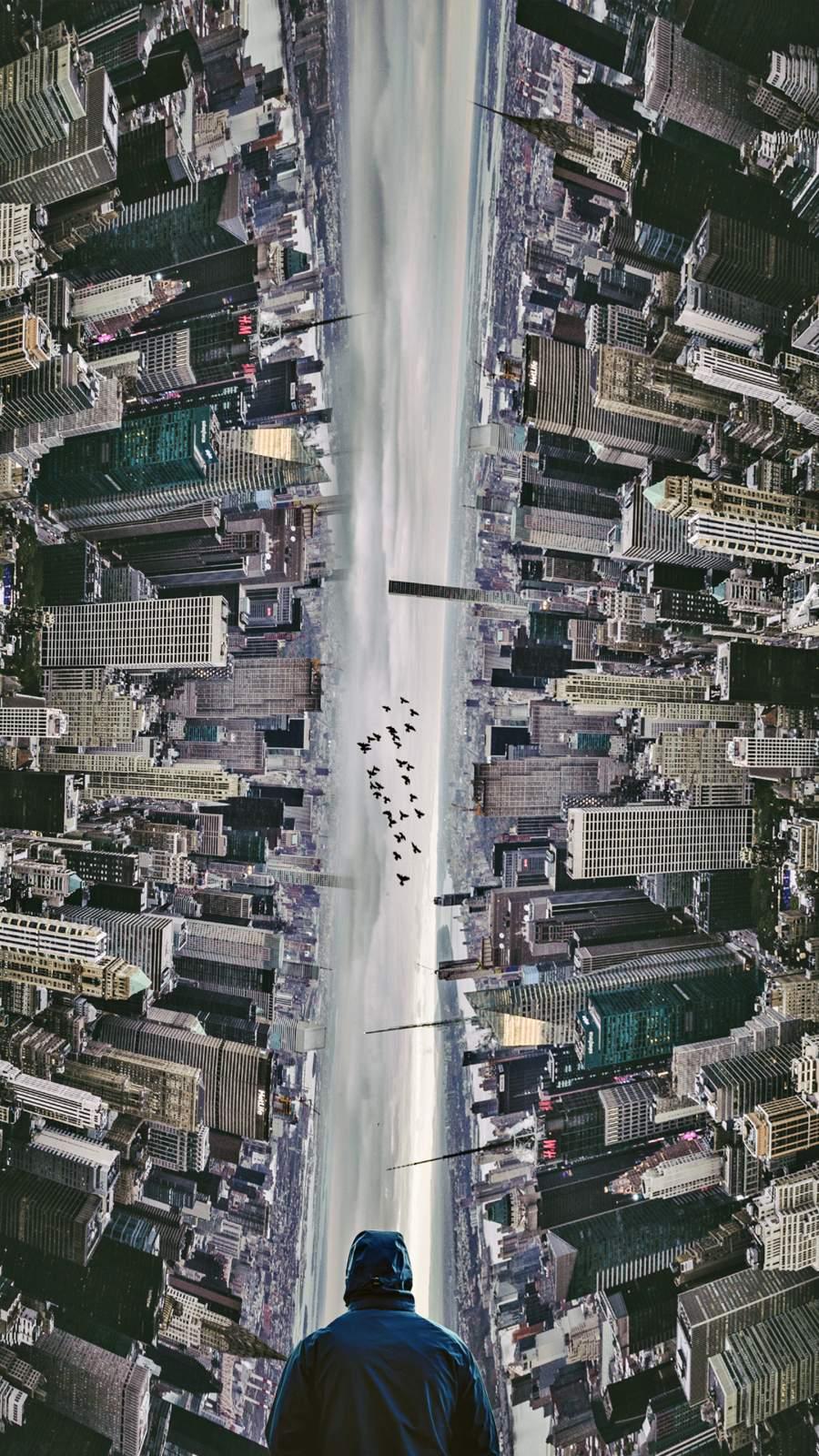 City illusion iPhone Wallpaper