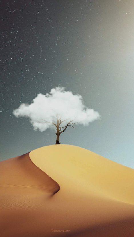 Cloud Tree iPhone Wallpaper