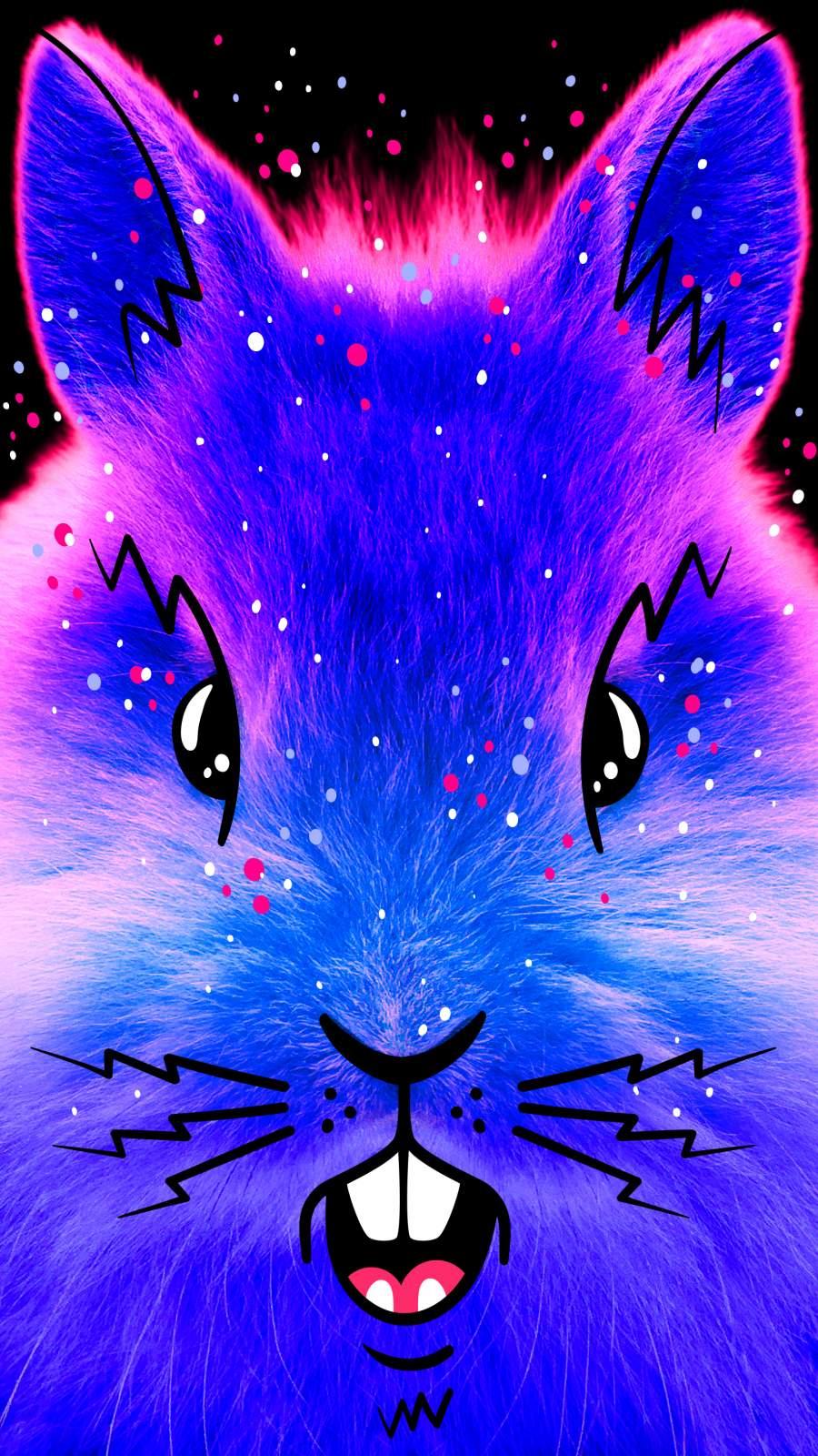 Cosmic Bunny iPhone Wallpaper