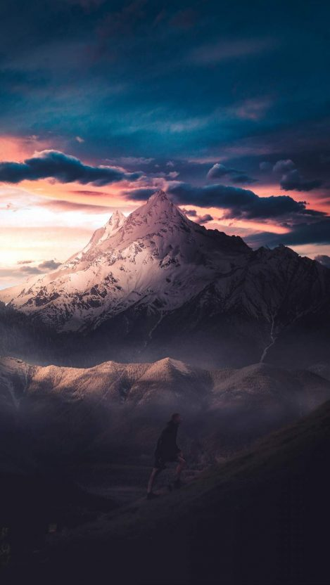 Courage Mountain iPhone Wallpaper