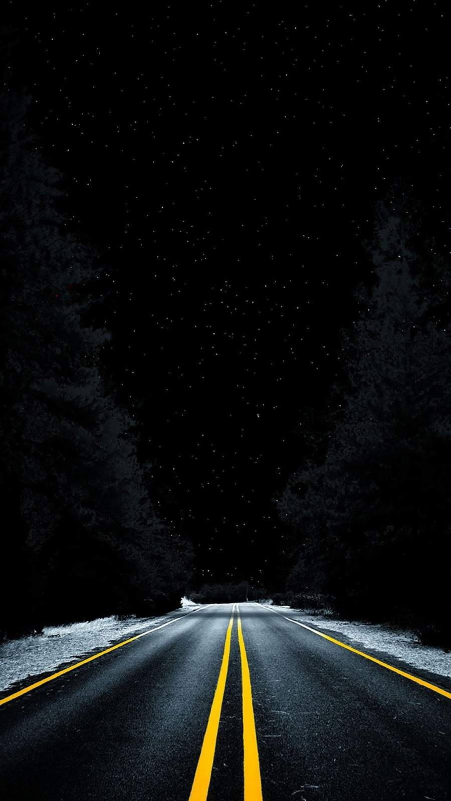 Dark Road iPhone Wallpaper