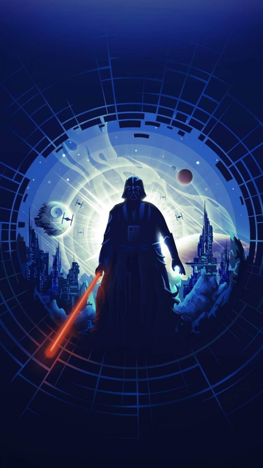 Darth Vader Star Wars Art iPhone Wallpaper