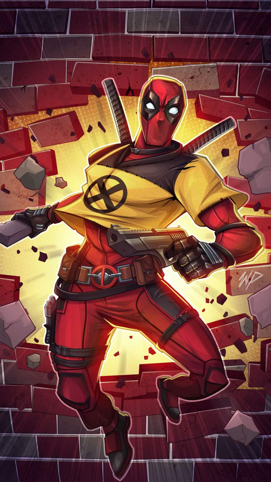 Deadpool X Force Art iPhone Wallpaper
