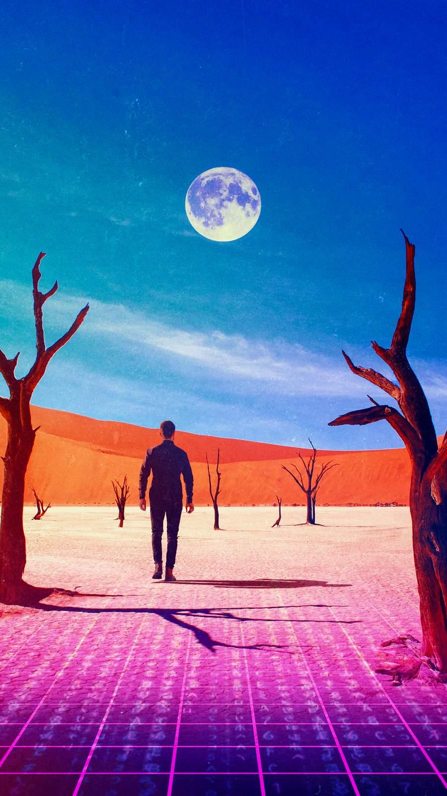Desert Reality iPhone Wallpaper