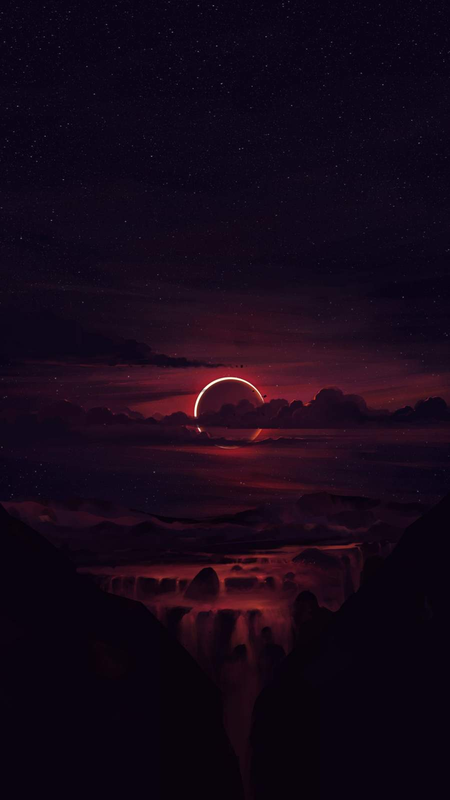 Devils Moon iPhone Wallpaper