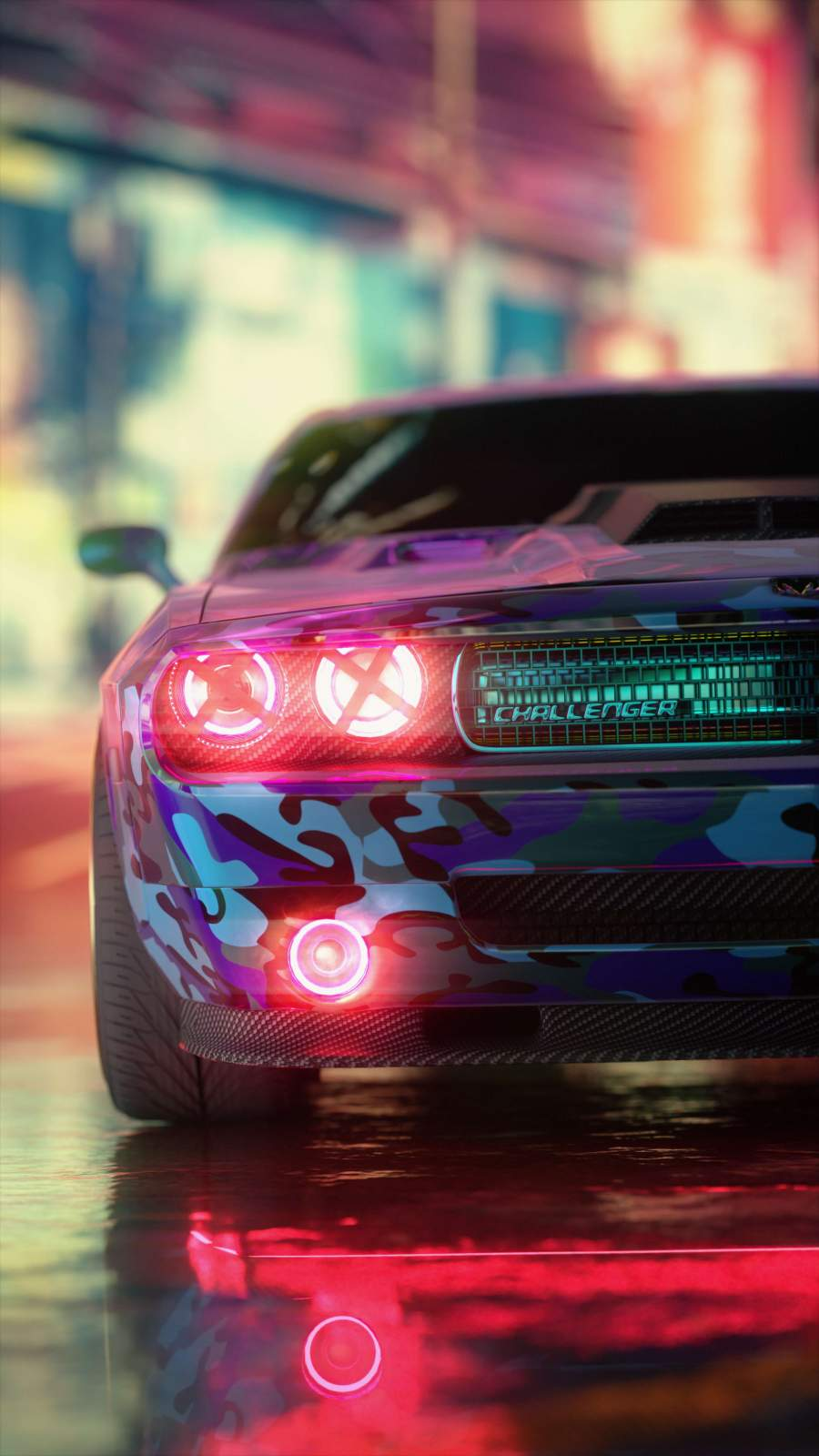 Dodge Challenger iPhone Wallpaper