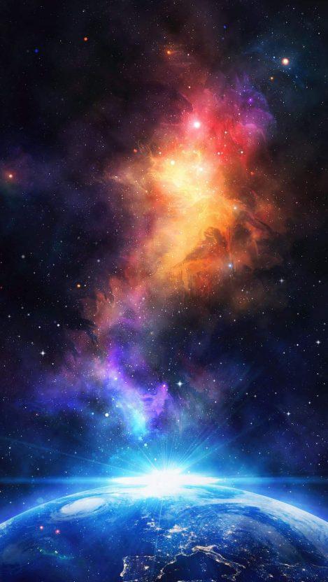 Earth Light iPhone Wallpaper