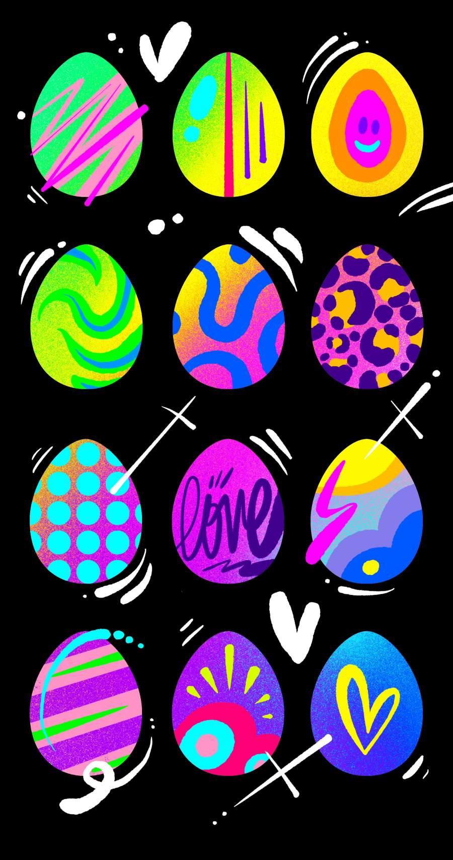Easter Eggs iPhone Wallpaper