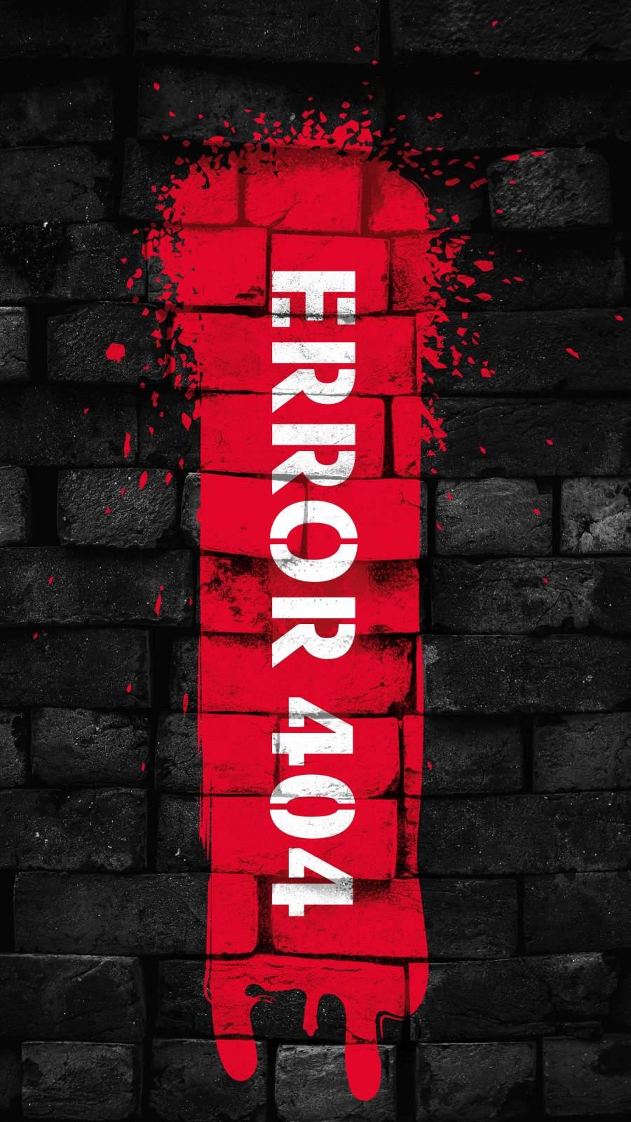 Error 404 iPhone Wallpaper
