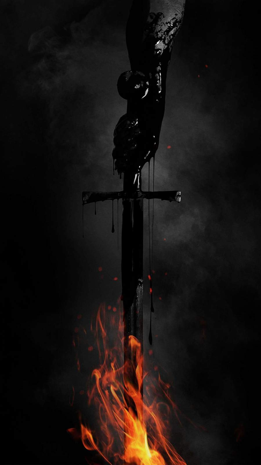 Fire Sword iPhone Wallpaper