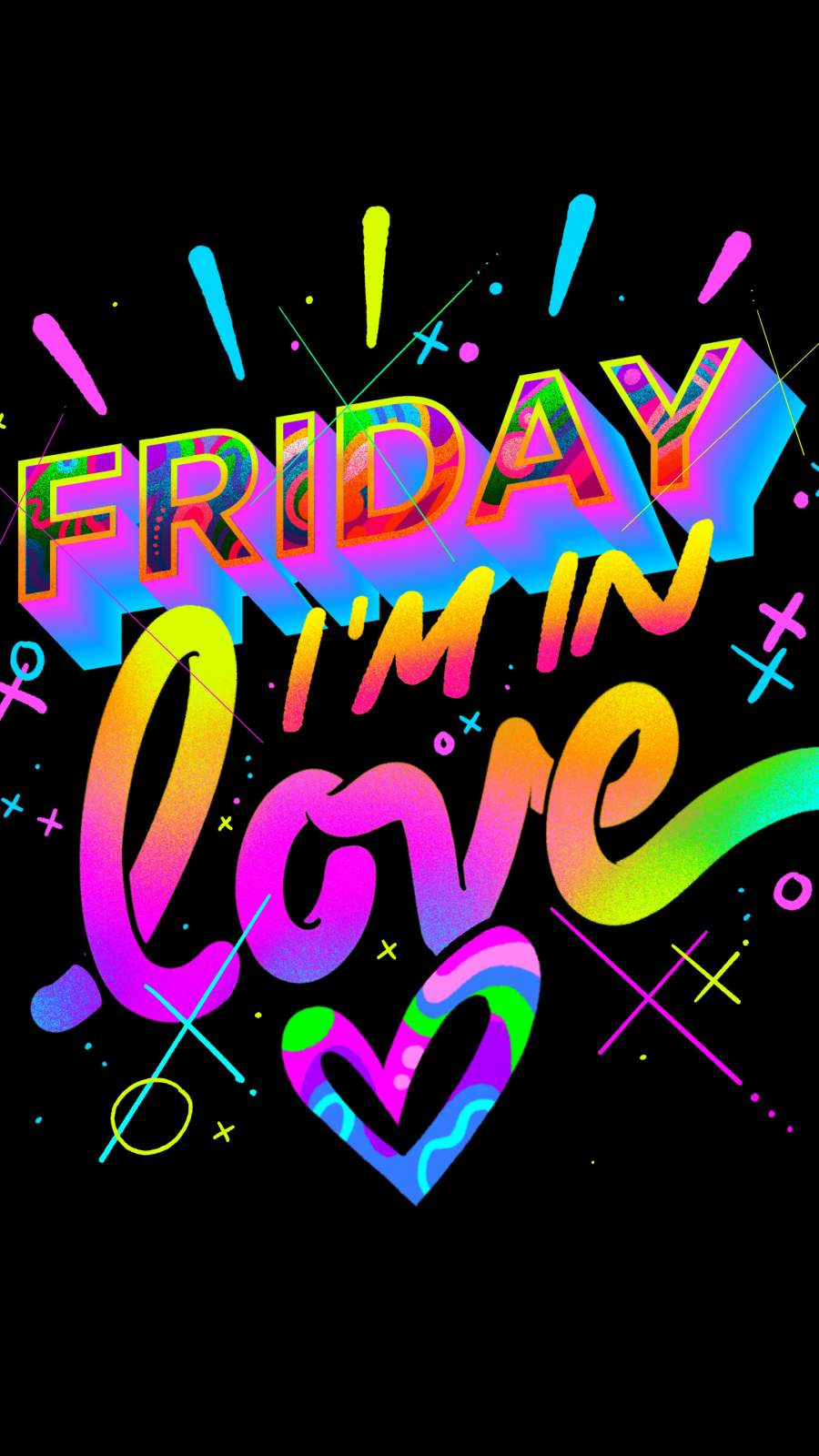 Friday I m In Love iPhone Wallpaper