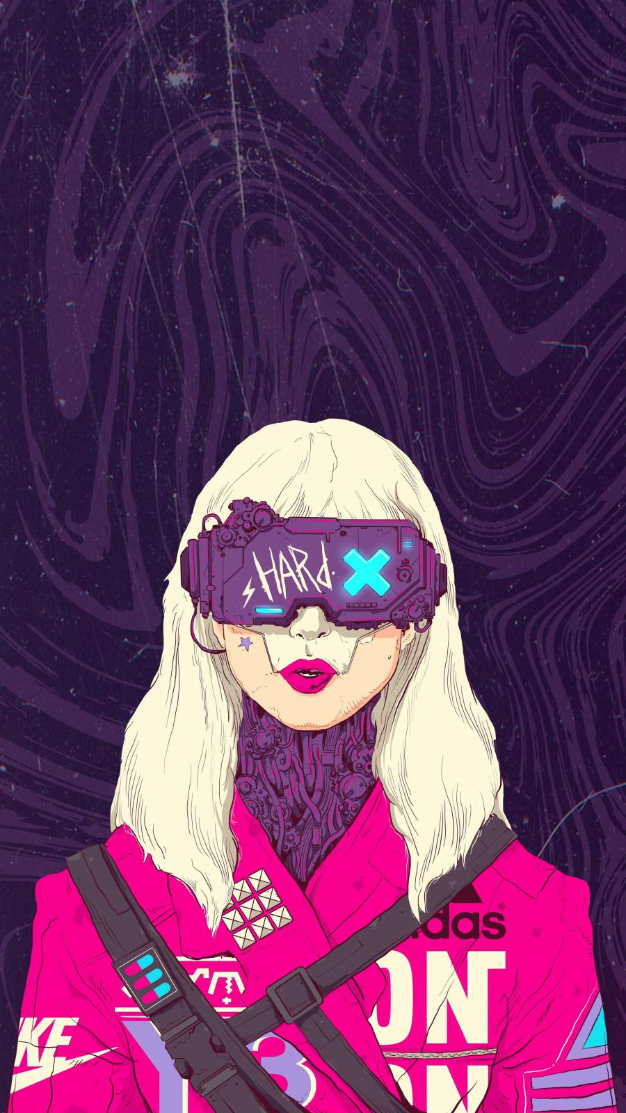 Futuristic Girl iPhone Wallpaper