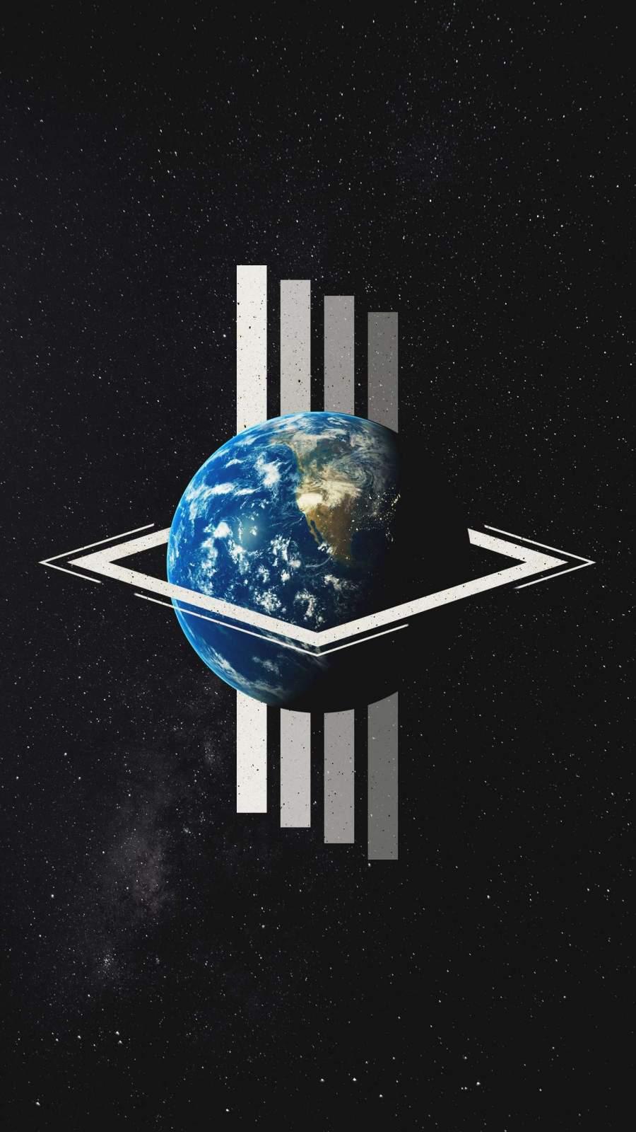 Geometry Space iPhone Wallpaper