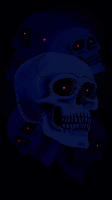 Ghost Skull iPhone Wallpaper
