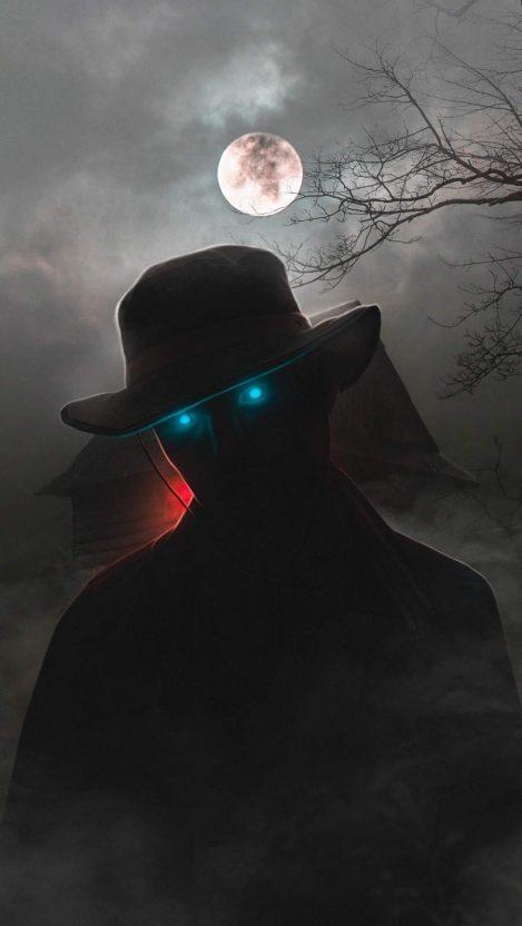 Ghost of Halloween iPhone Wallpaper