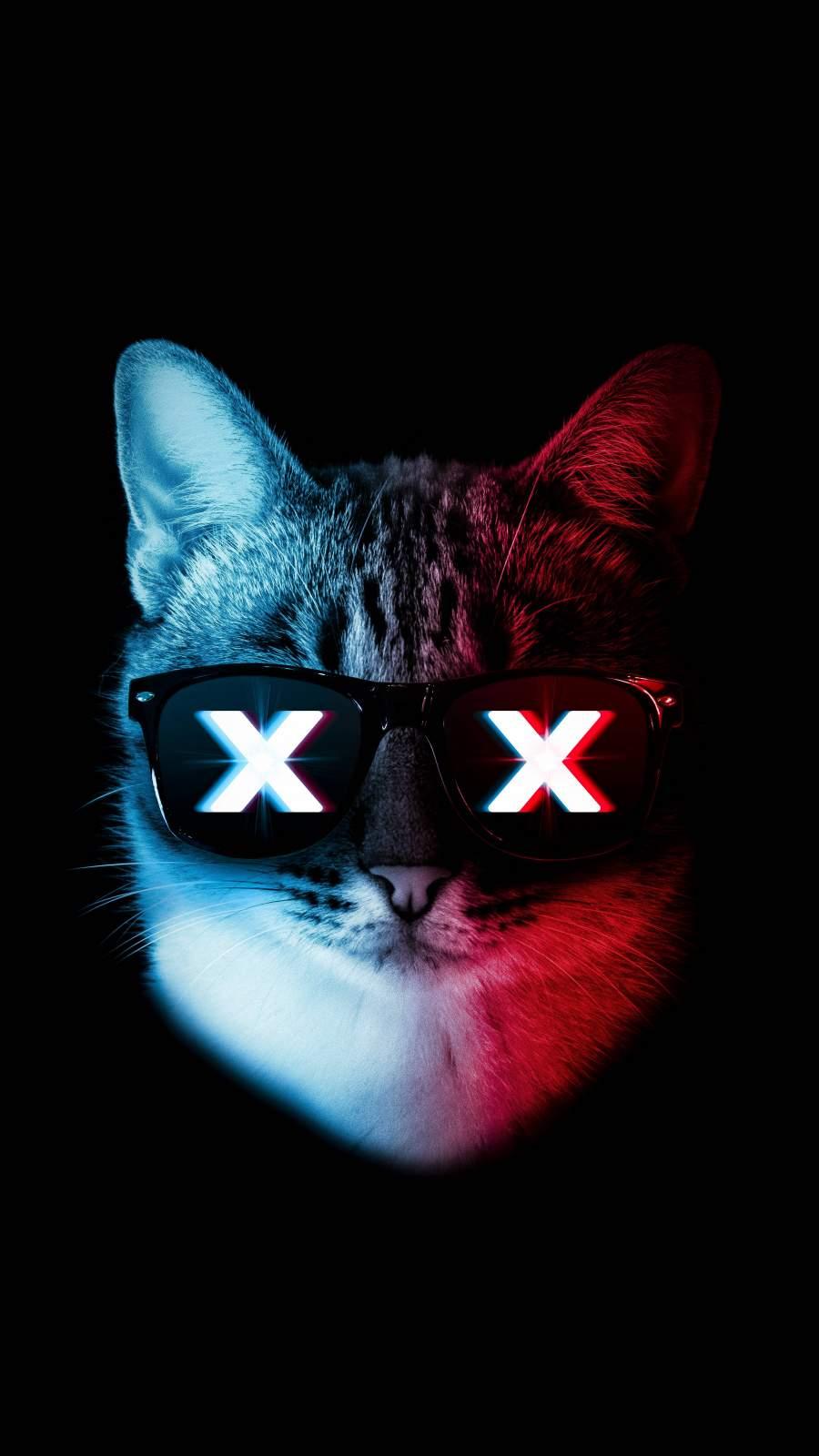 Glitch Cat iPhone Wallpaper