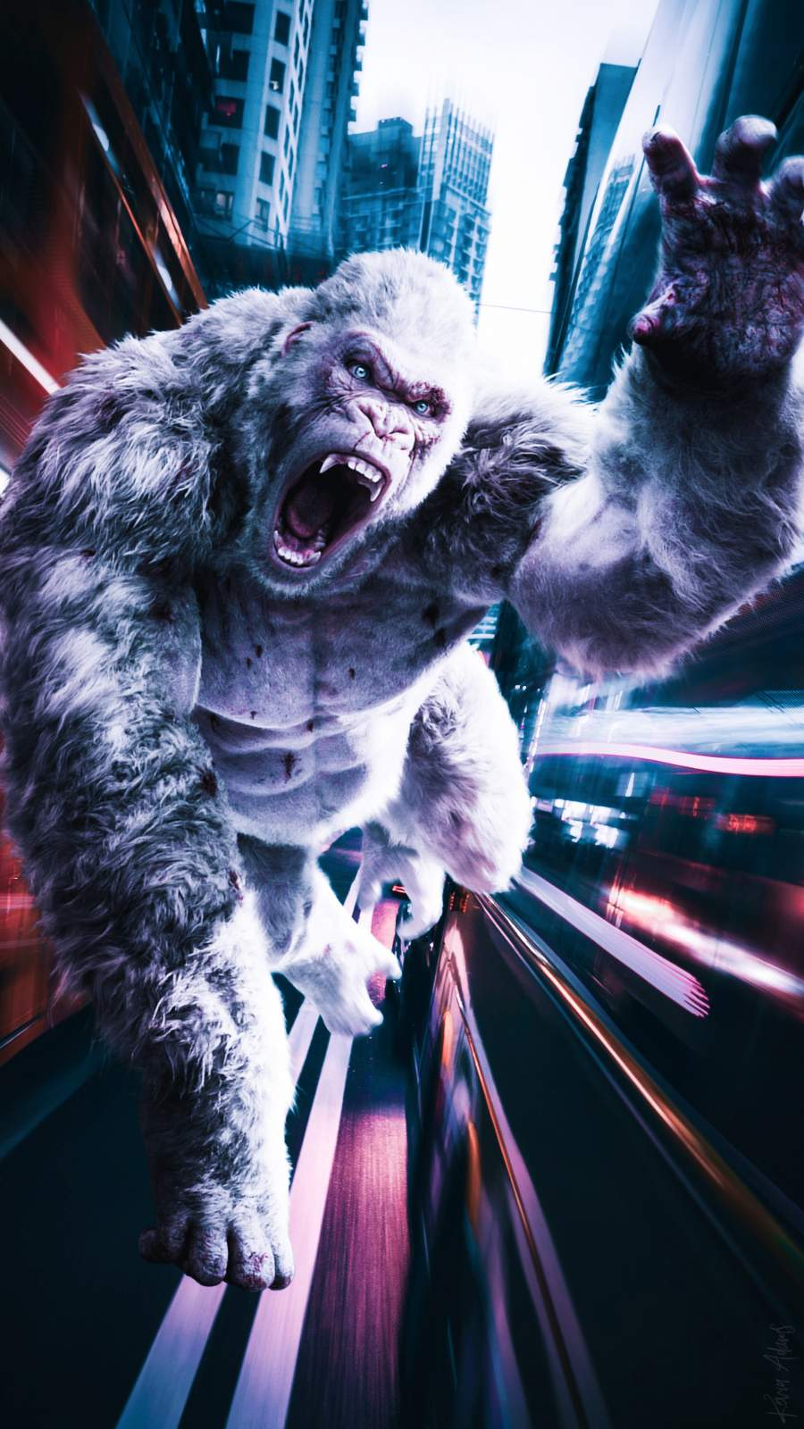 Gorilla Chase iPhone Wallpaper