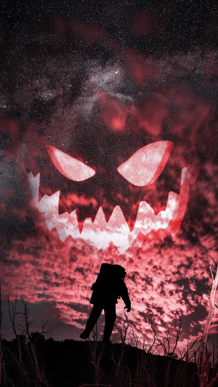 Halloween Astronaut iPhone Wallpaper