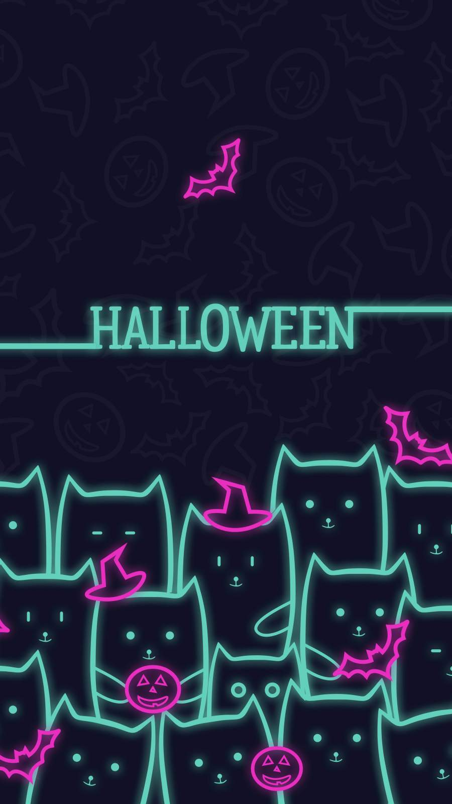 Halloween Cats iPhone Wallpaper