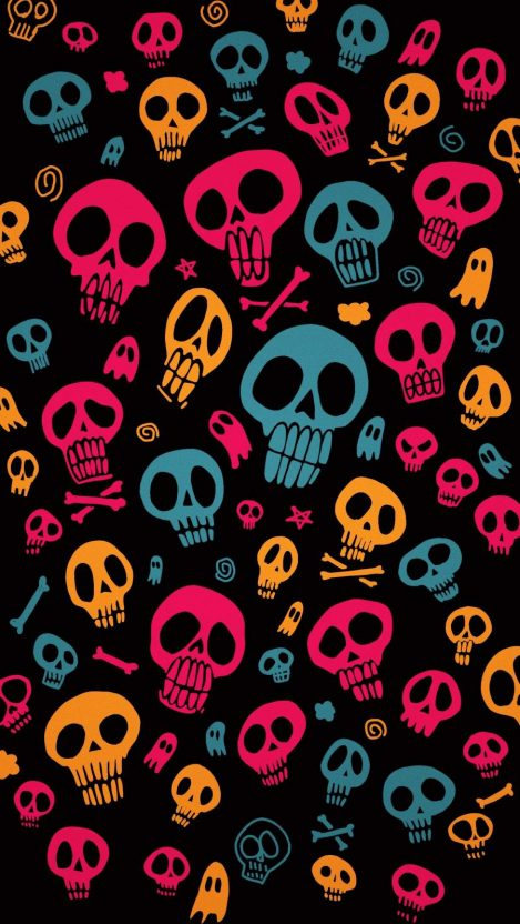 Halloween Skulls iPhone Wallpaper
