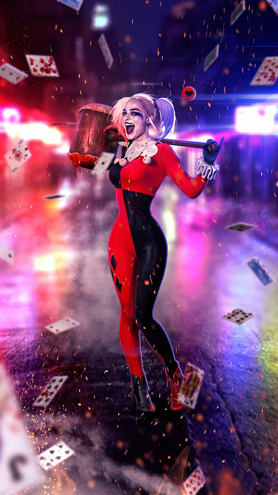 Harley Quinn Margot Robbie iPhone Wallpaper