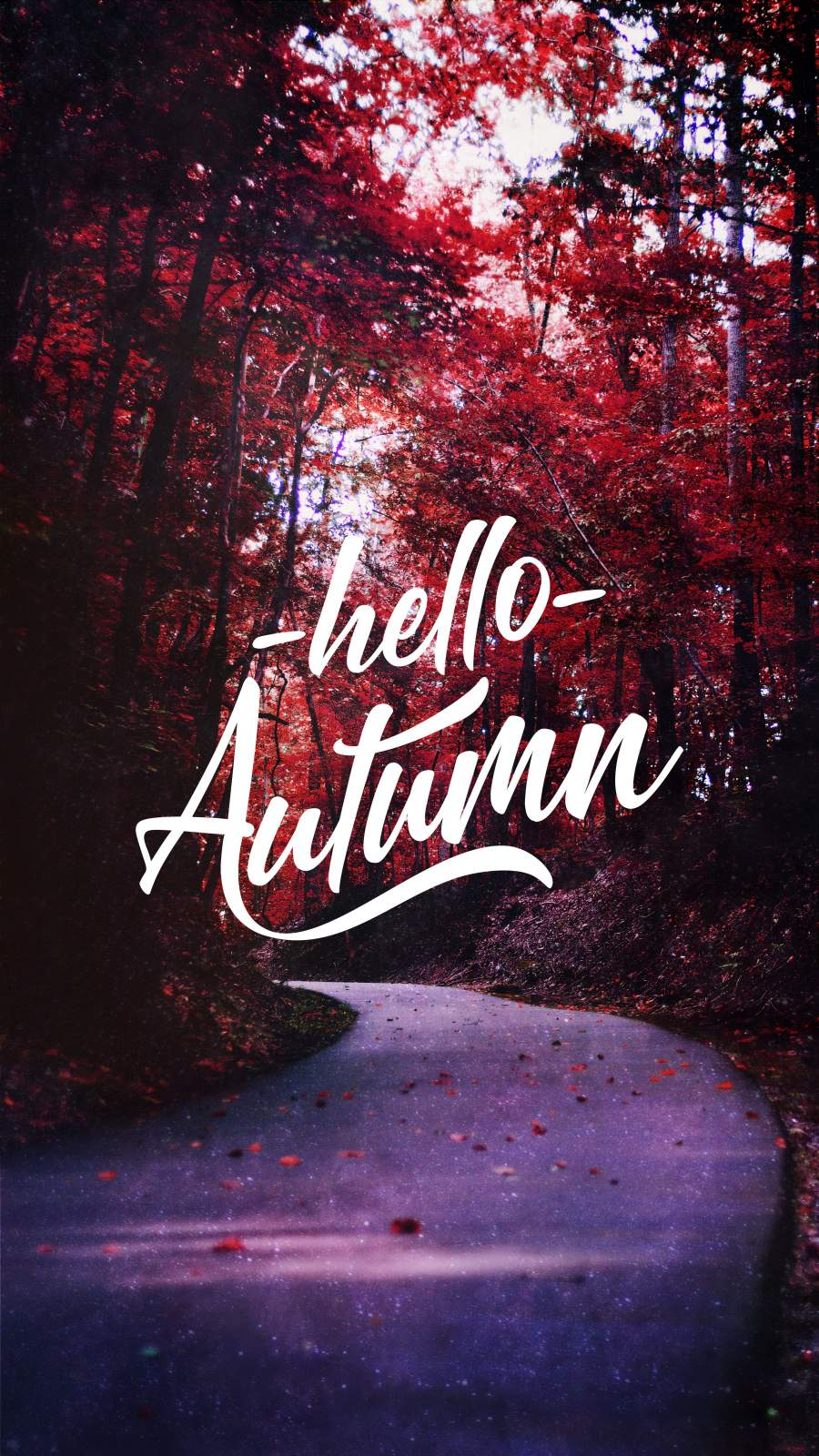Hello Autumn iPhone Wallpaper