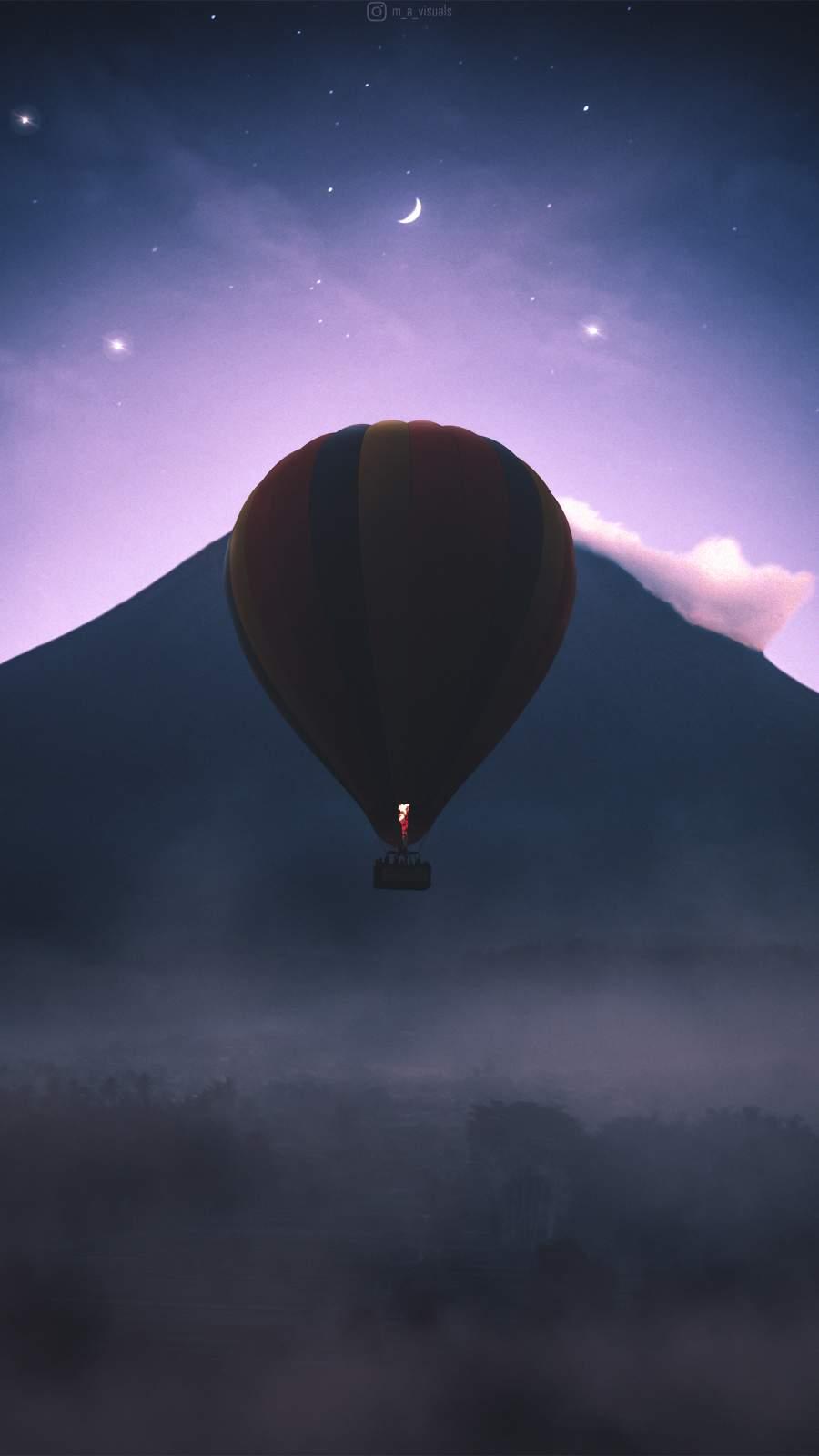Hot Air Balloon iPhone Wallpaper