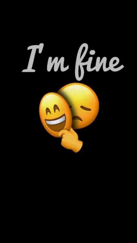 I am Fine iPhone Wallpaper