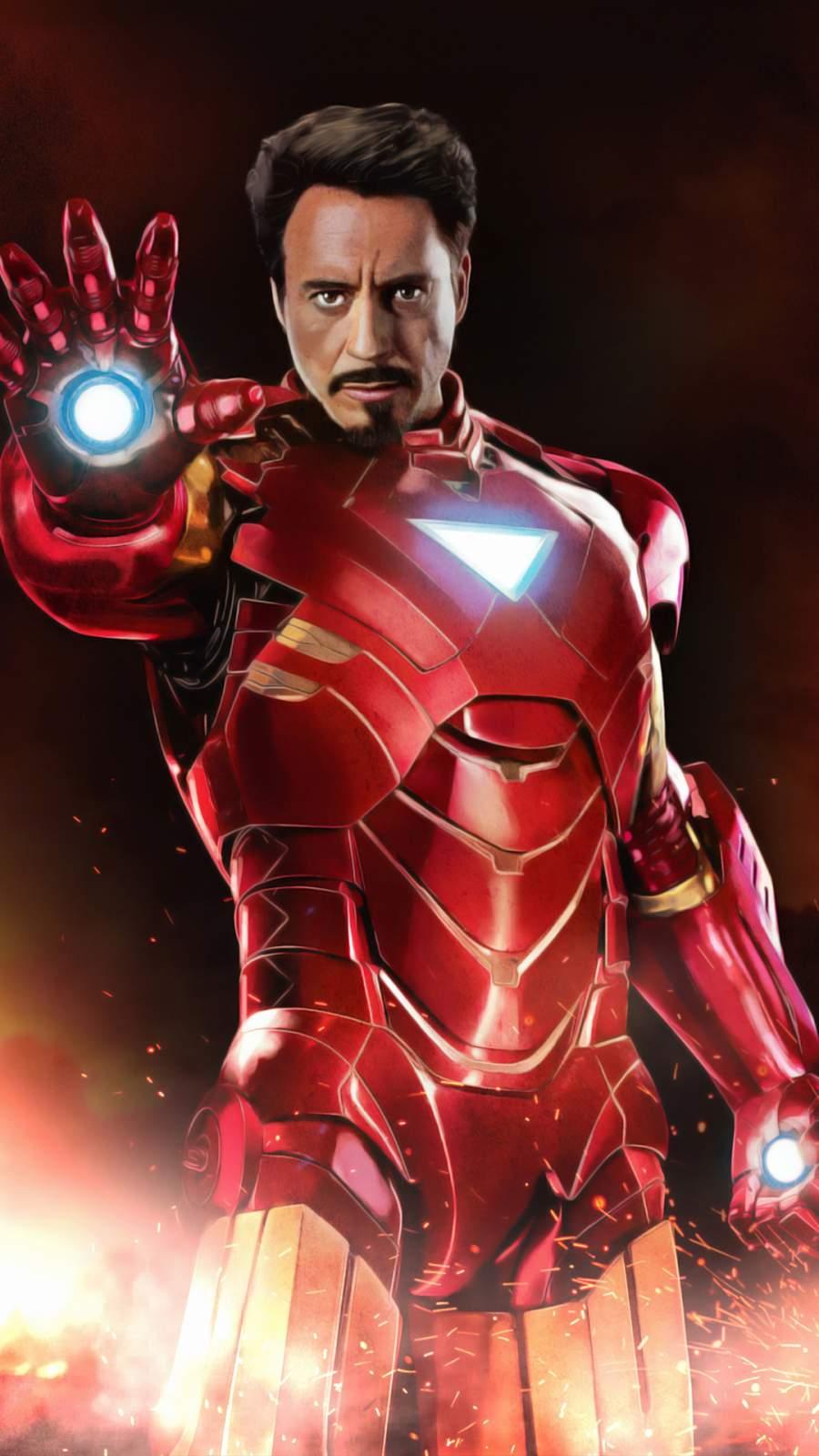 Iron Man 4K Artwork iPhone Wallpaper