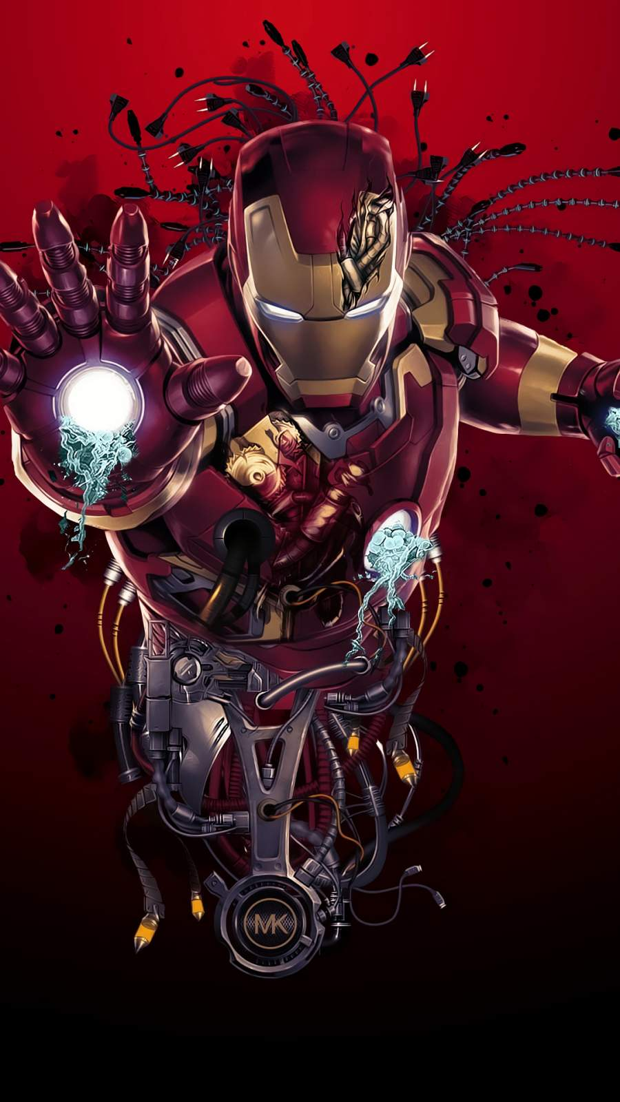 Iron Man Digital Art iPhone Wallpaper