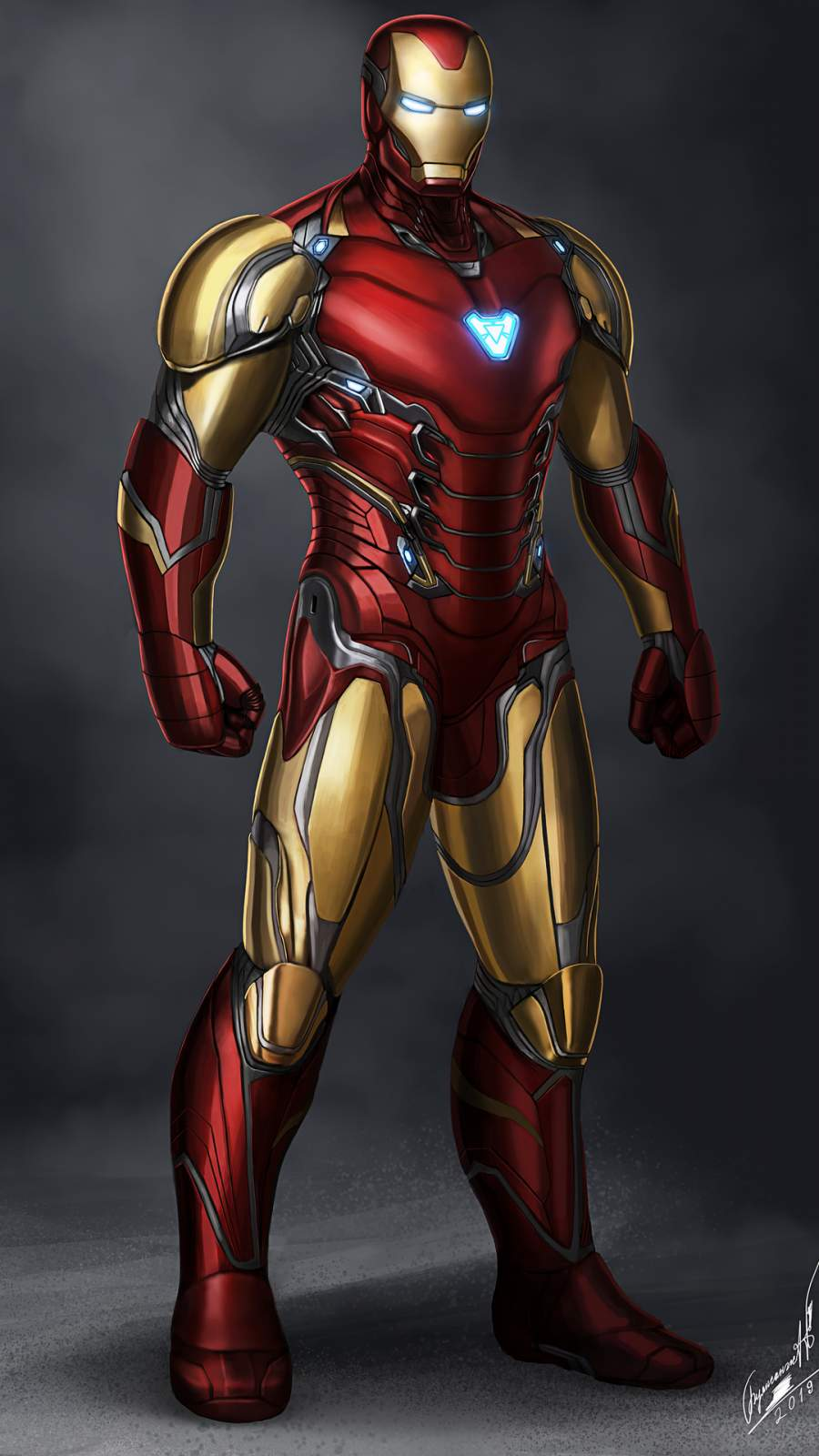 Iron Man Mark 85 4K iPhone Wallpaper