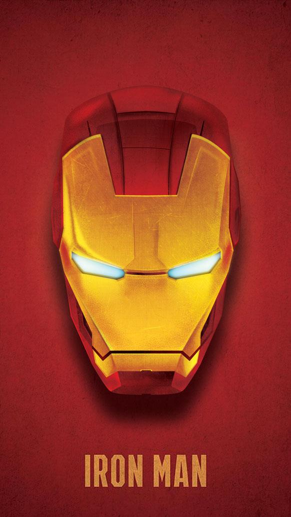 Iron Man Mask 4K iPhone Wallpaper