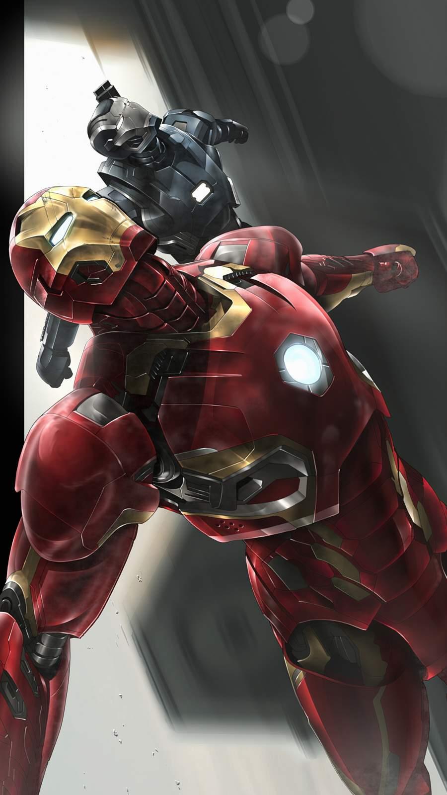 Iron Man War Machine Art iPhone Wallpaper