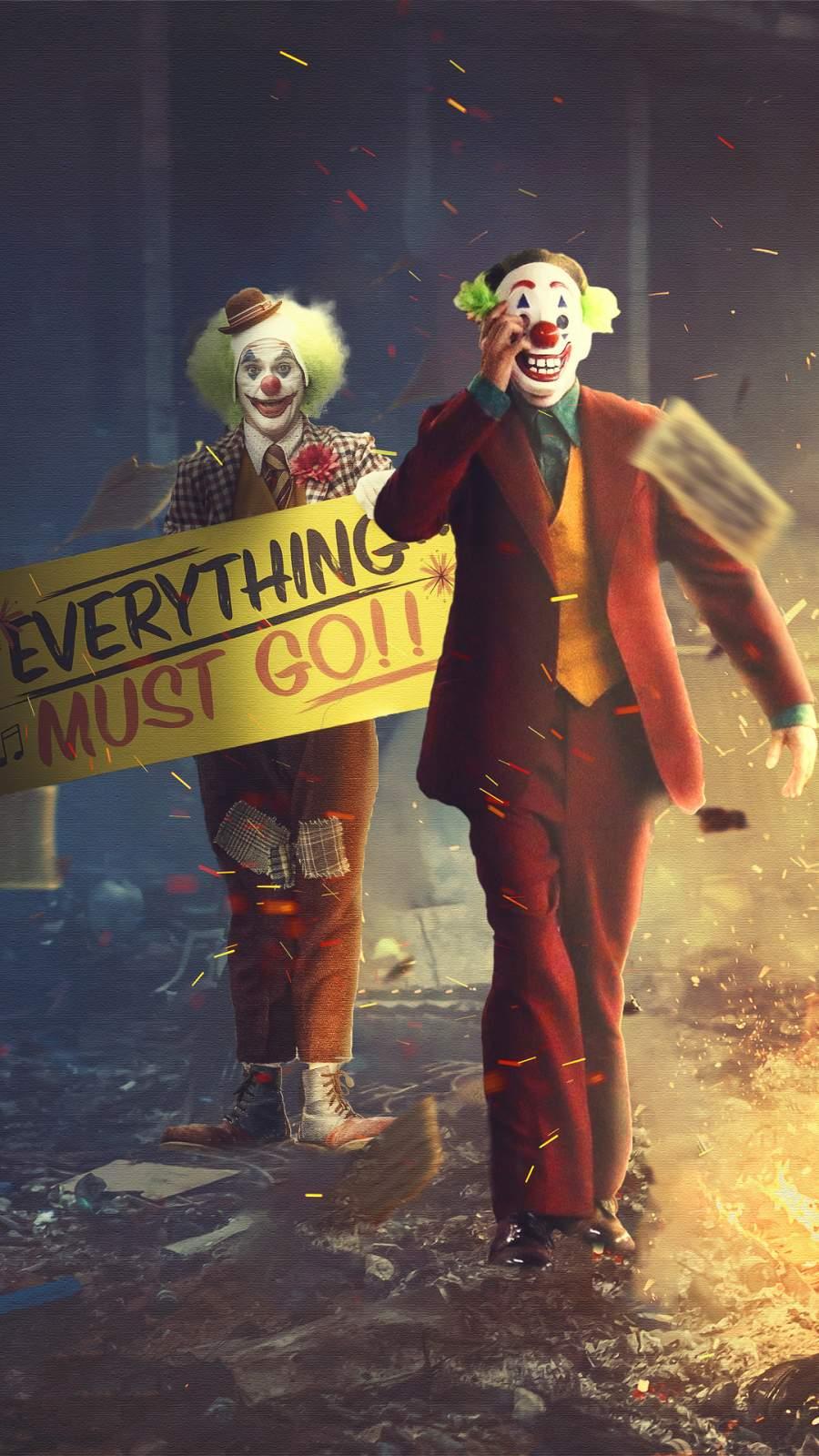 Joker Clowns iPhone Wallpaper
