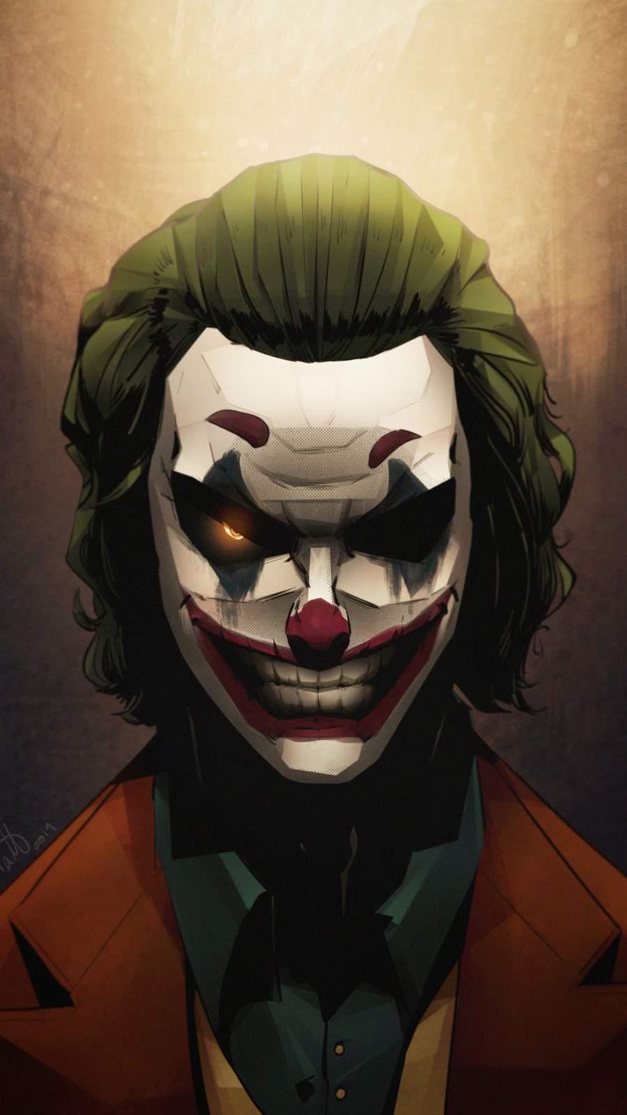 Joker Evil Art iPhone Wallpaper