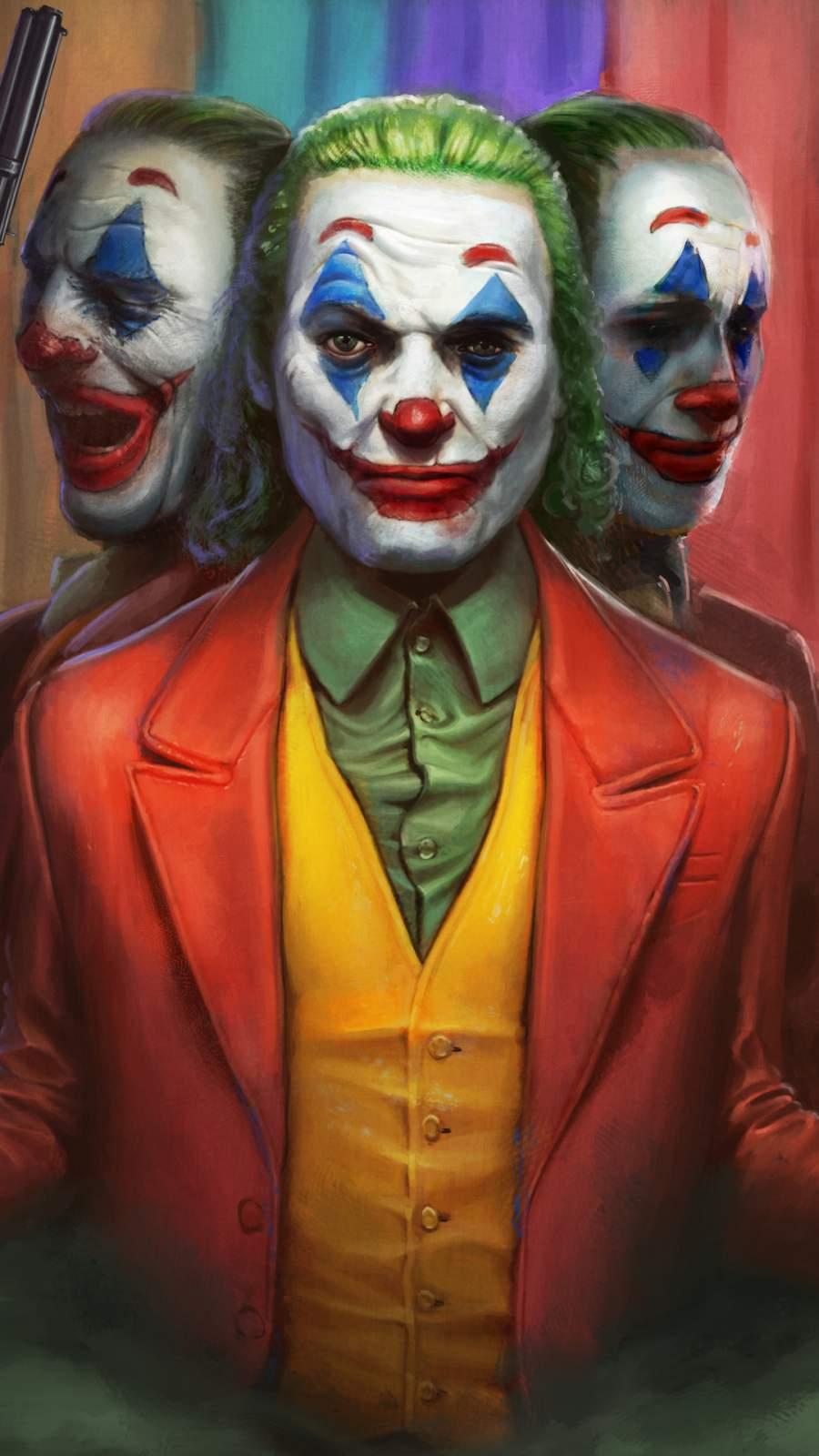 Joker Faces iPhone Wallpaper