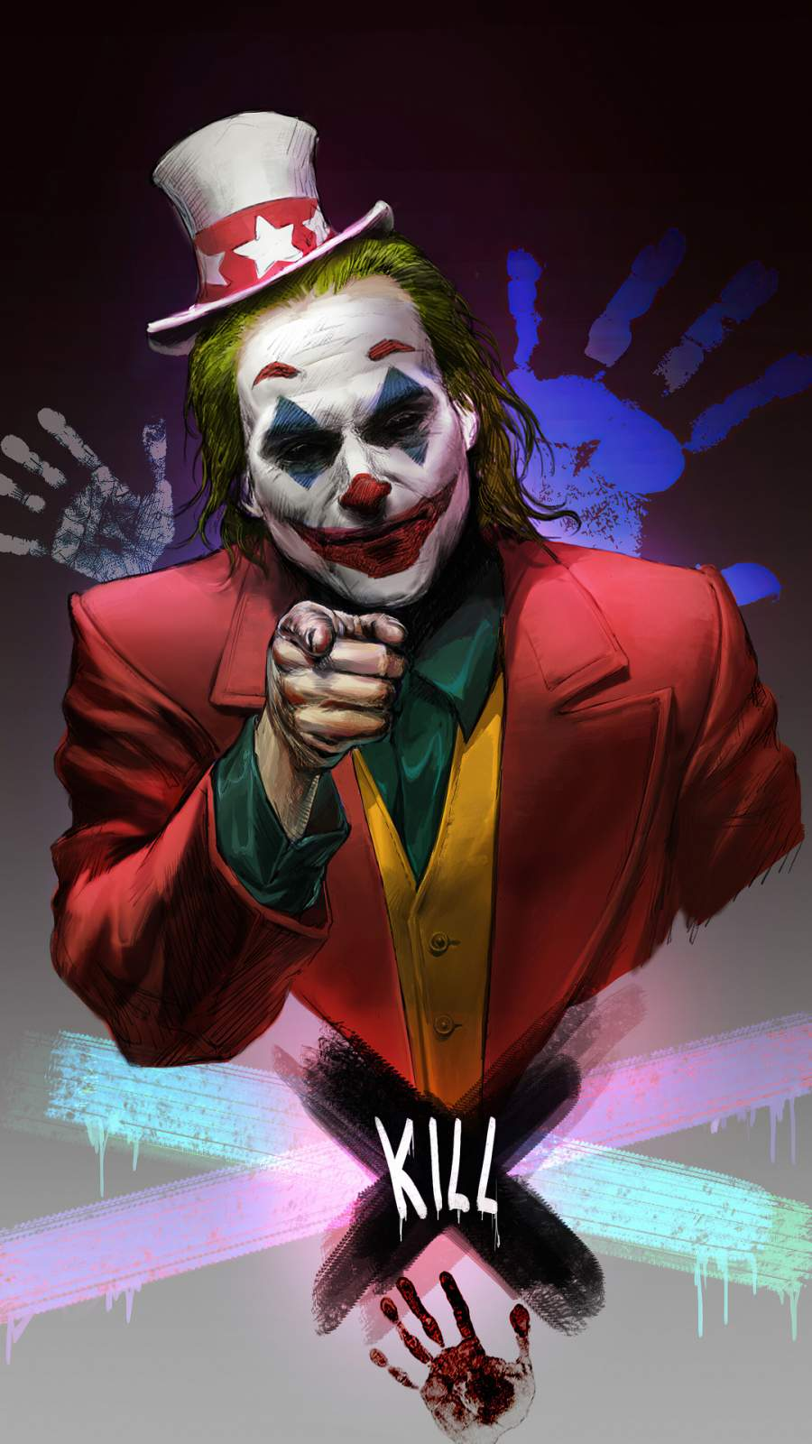 Joker Uncle Sam iPhone Wallpaper