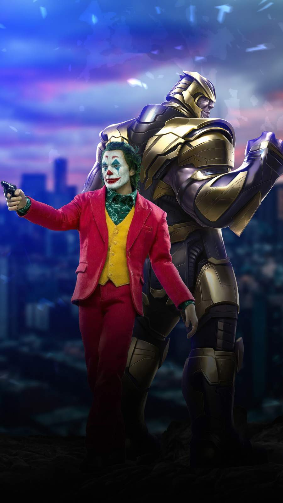 Joker and Thanos iPhone Wallpaper
