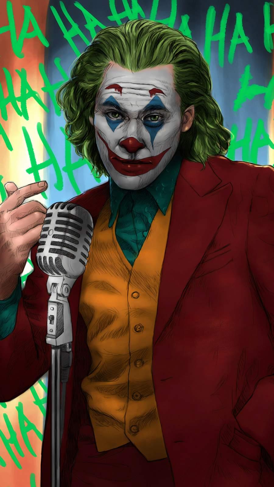 Joker on Show iPhone Wallpaper