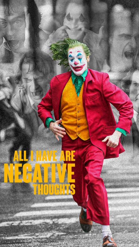 Joker vs Negative Thoughts iPhone Wallpaper
