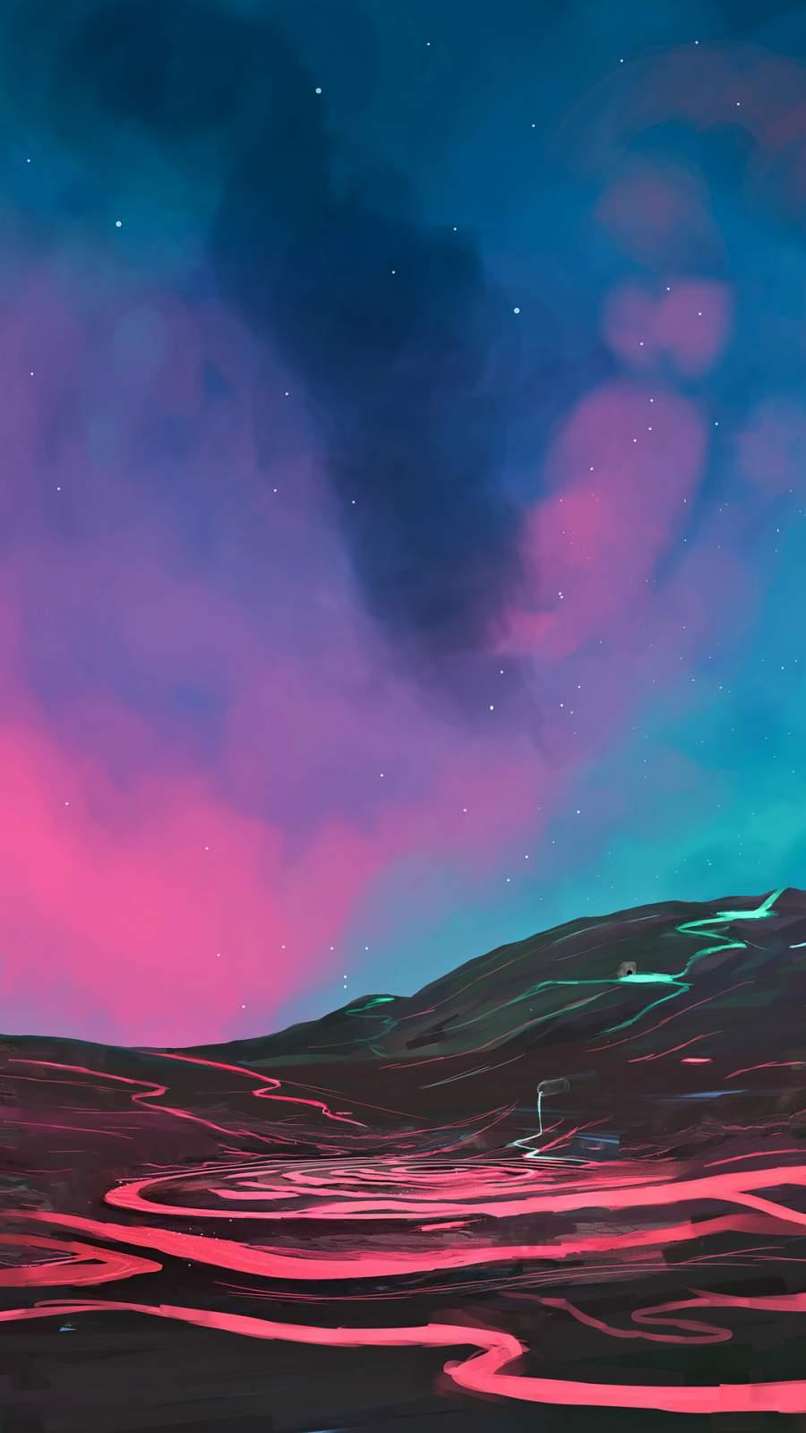 Lava Mountain iPhone Wallpaper