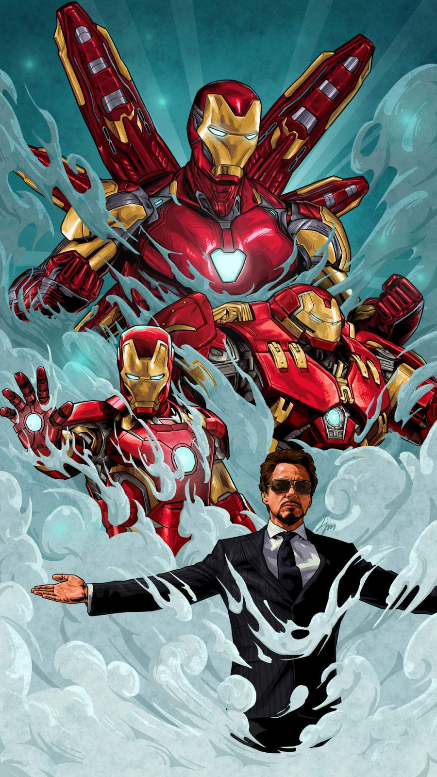 Legend Tony Stark Iron Man iPhone Wallpaper