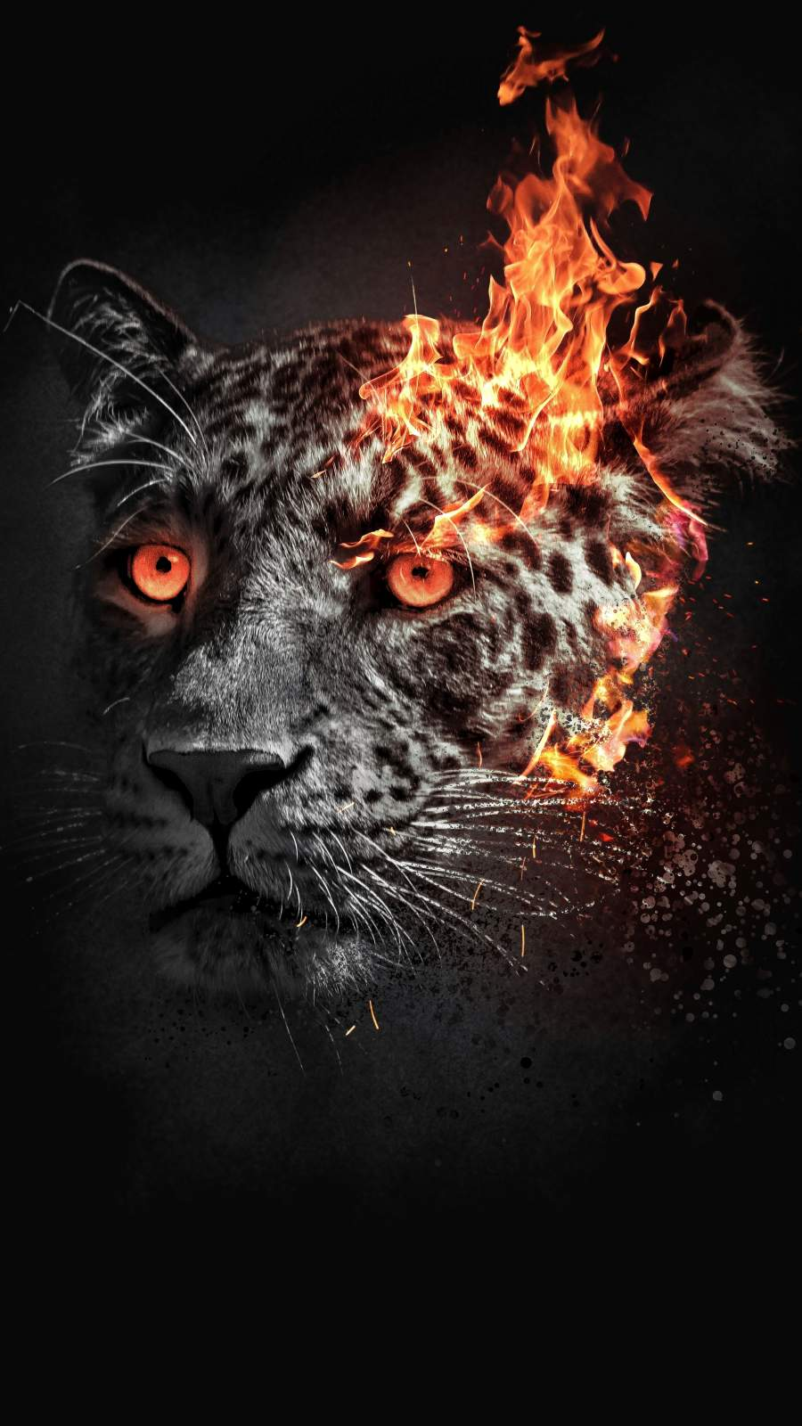 Leopard Art iPhone Wallpaper